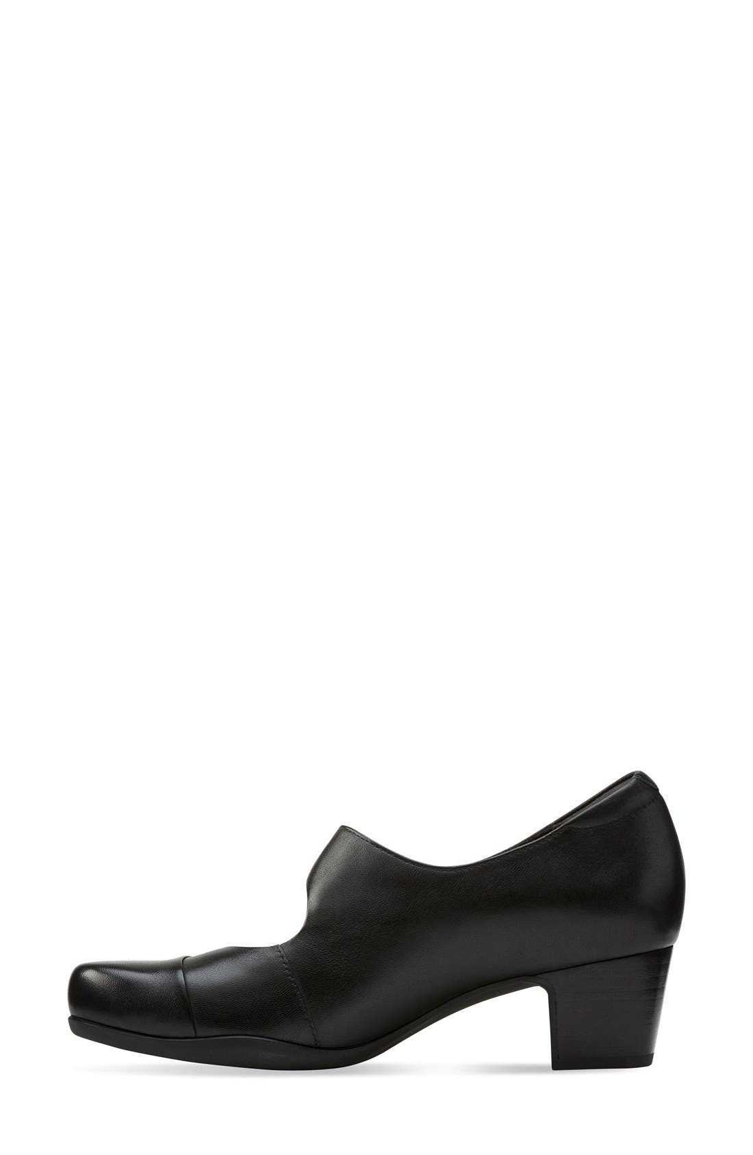 'Rosalyn Wren' Mary Jane Pump,                             Alternate thumbnail 2, color,                             Black Leather