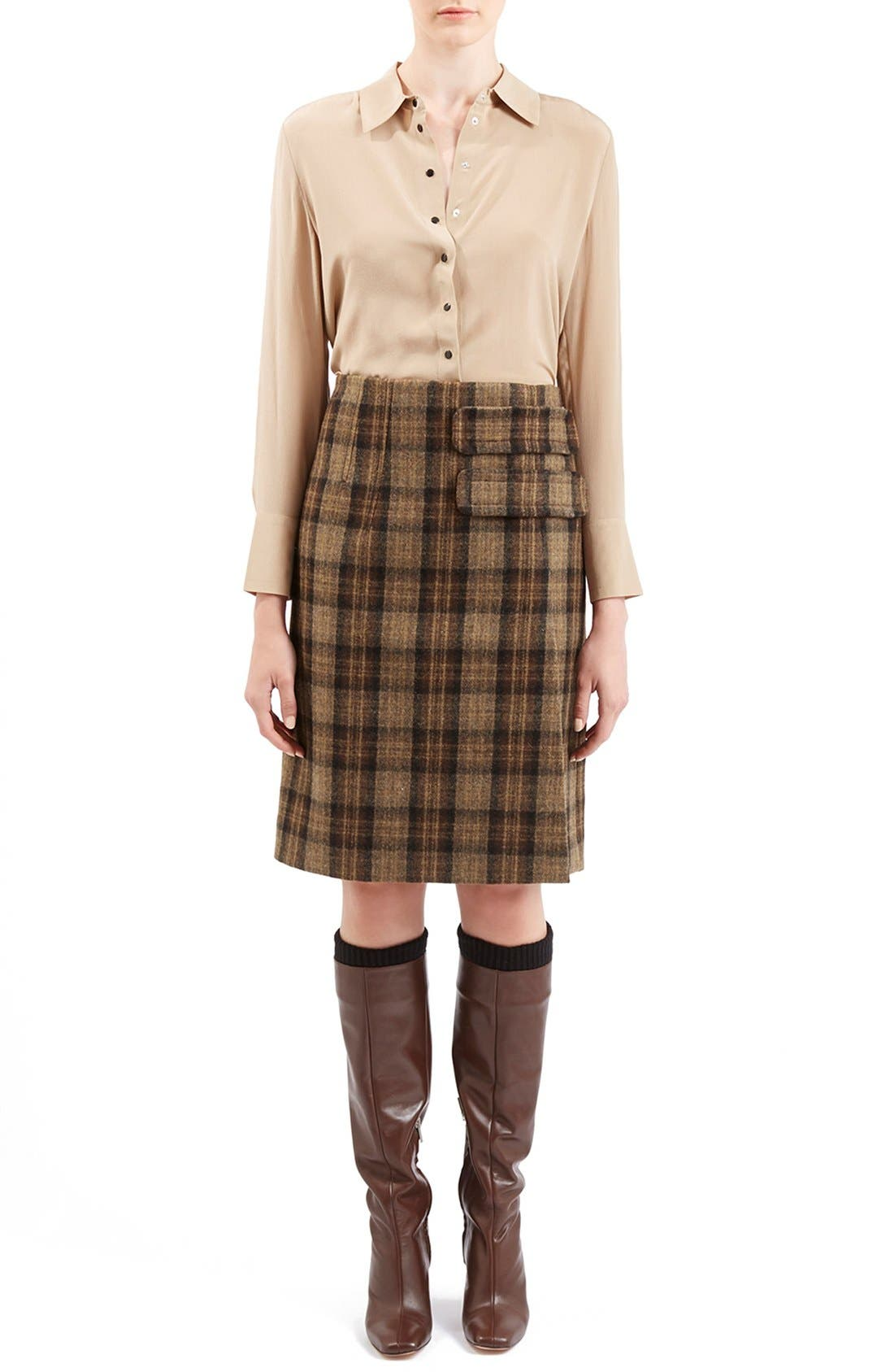 Alternate Image 2  - Topshop Unique 'Inverness' Plaid A-Line Skirt