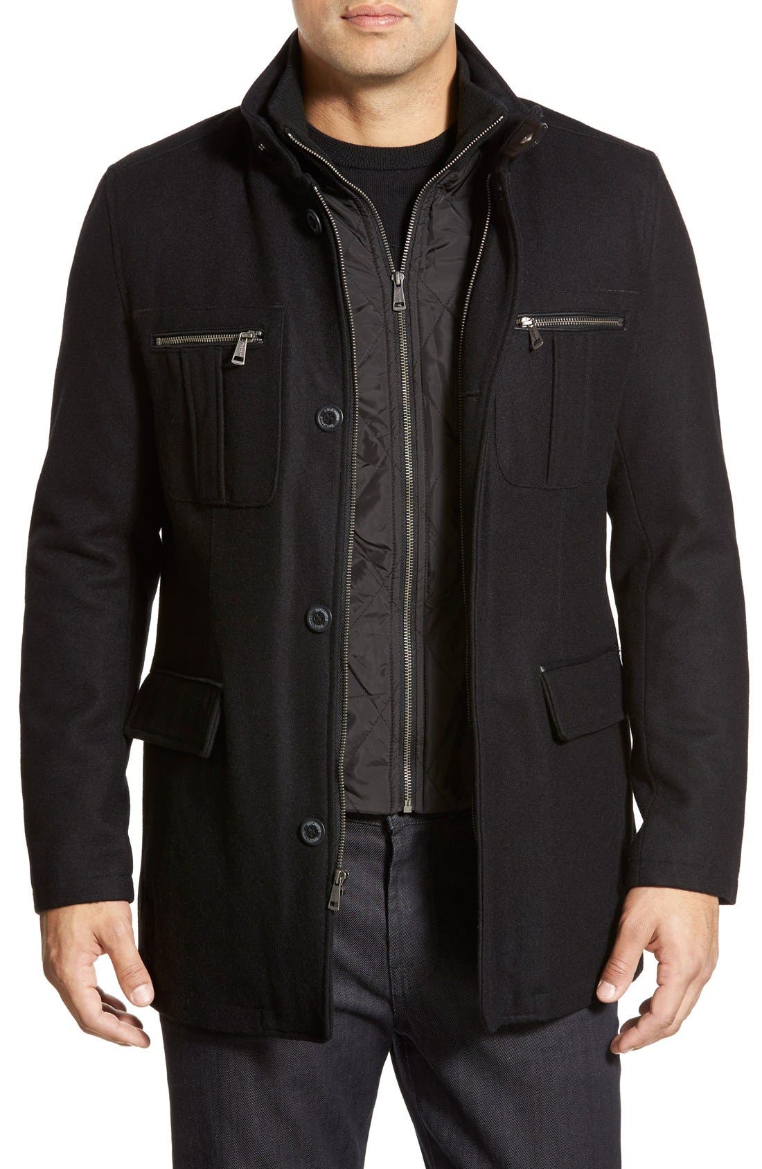 Alternate Image 1 Selected - Cole HaanWool Blend Jacket