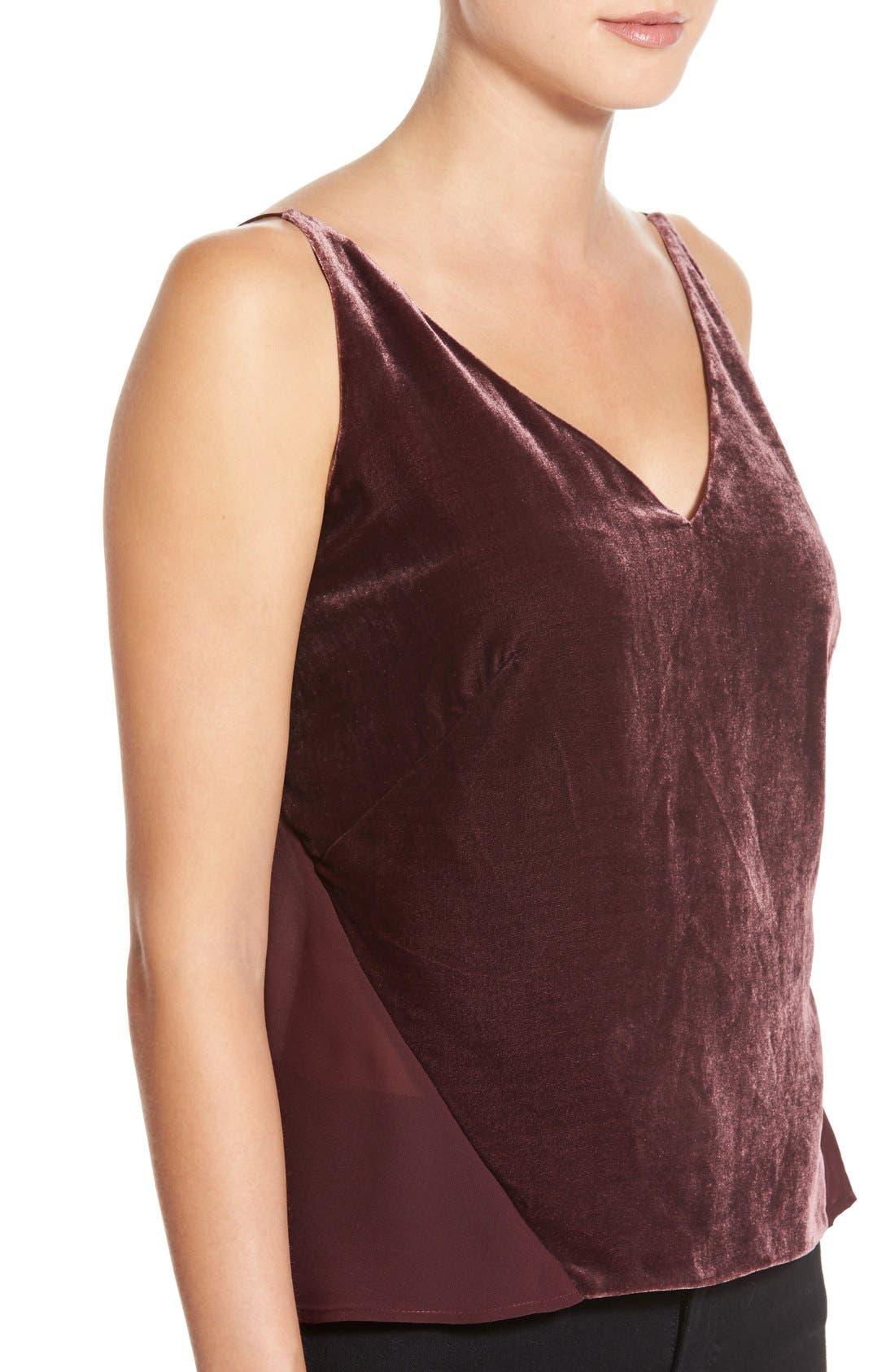 Alternate Image 4  - J Brand 'Lucy' Velvet Front Camisole