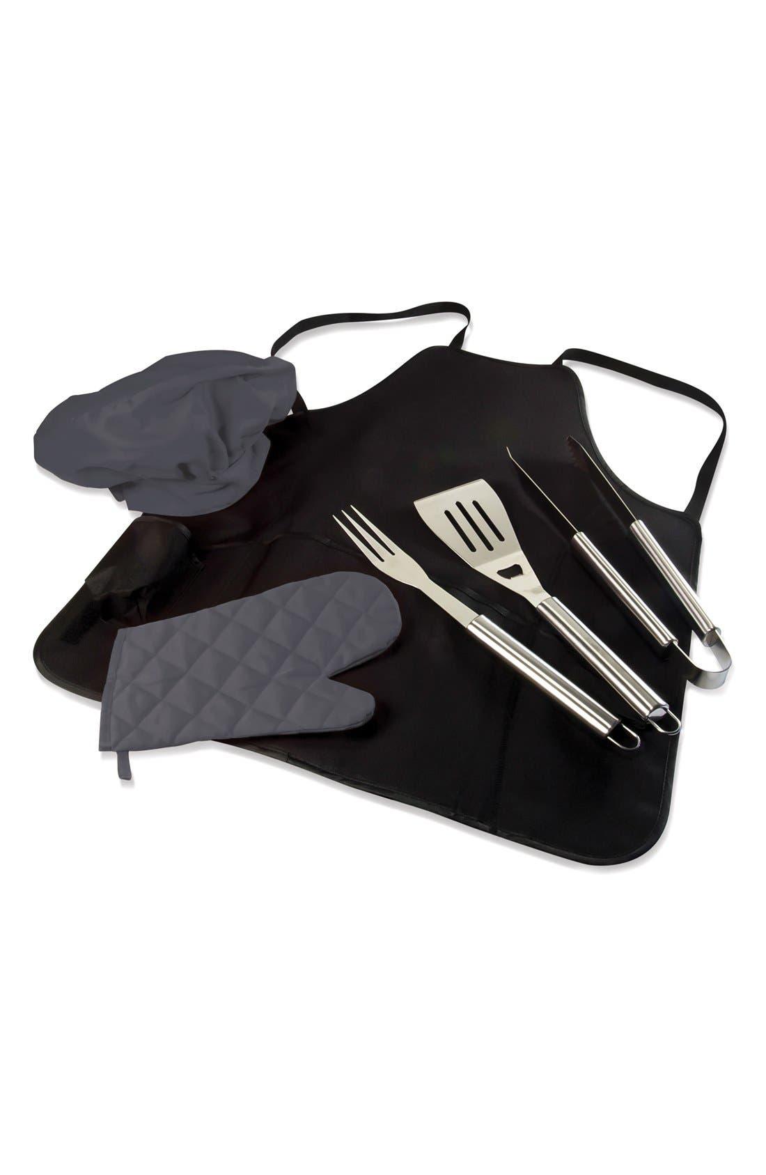 'BarbecuePro' Apron Tote,                         Main,                         color, Black