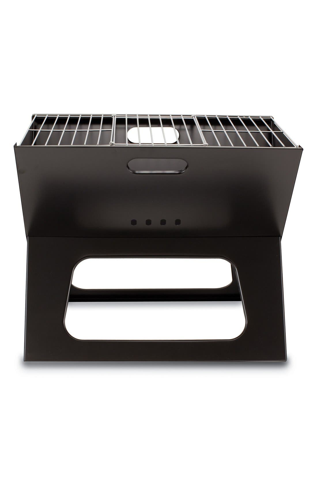 'X-Grill' Portable Fold-Up BBQ Grill,                             Alternate thumbnail 3, color,                             Black