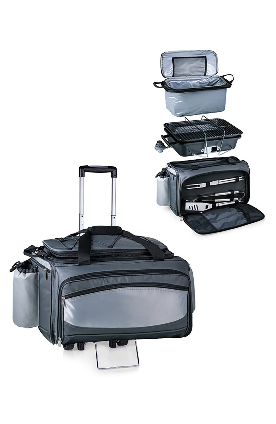 'Vulcan' Barbecue Grill & Cooler Trolley,                         Main,                         color, Black