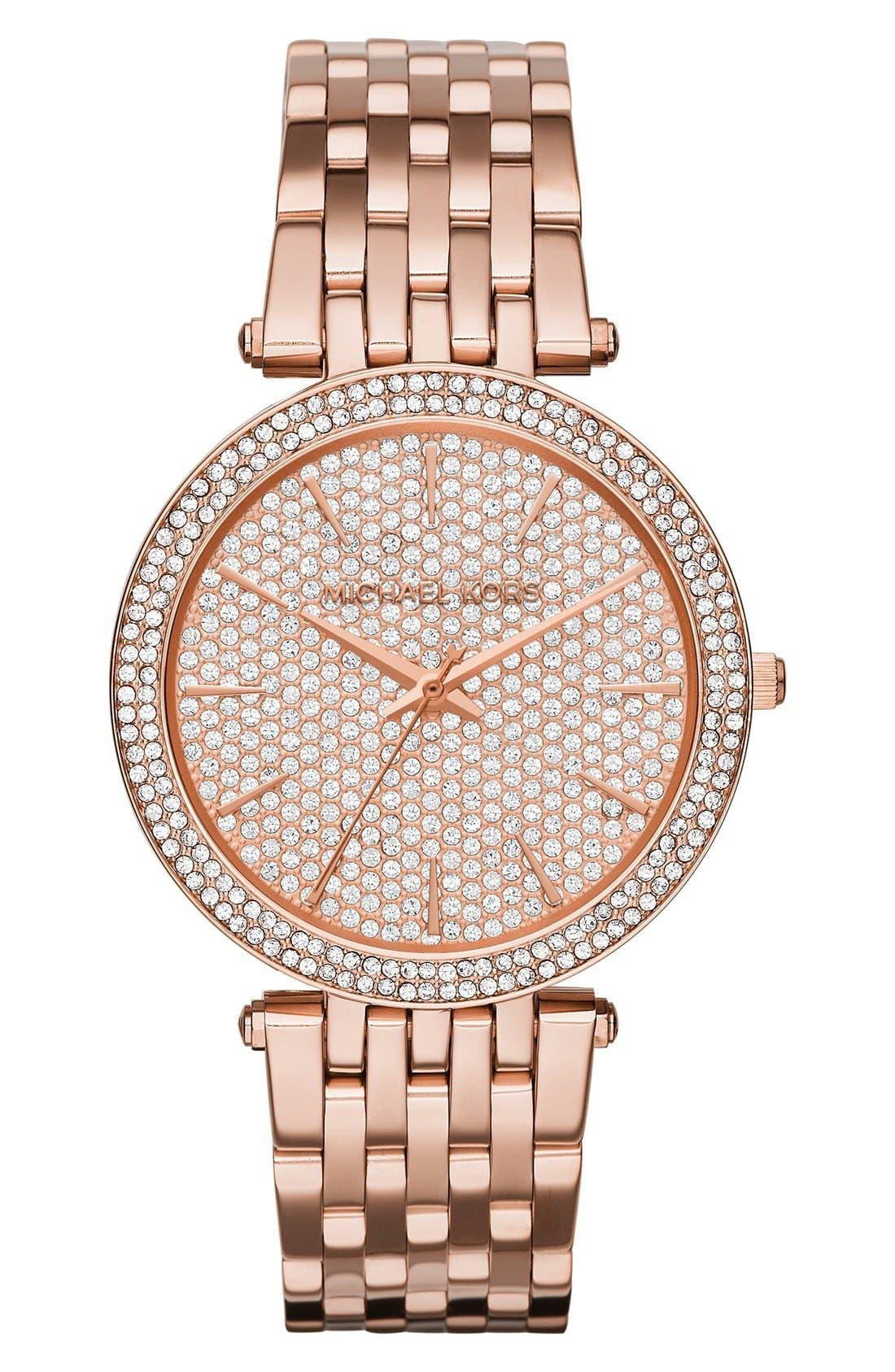 Alternate Image 1 Selected - Michael Kors'Darci' Bracelet Watch, 39mm