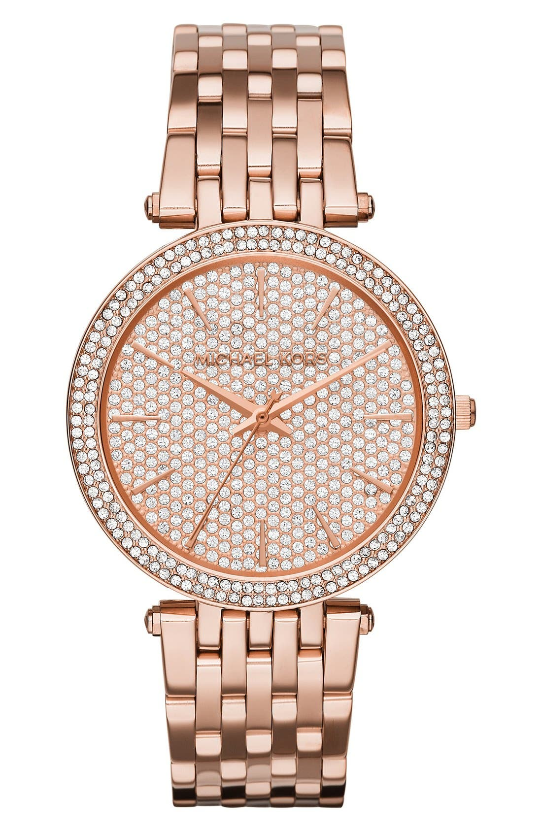 'Darci' Bracelet Watch, 39mm,                         Main,                         color, Rose Gold