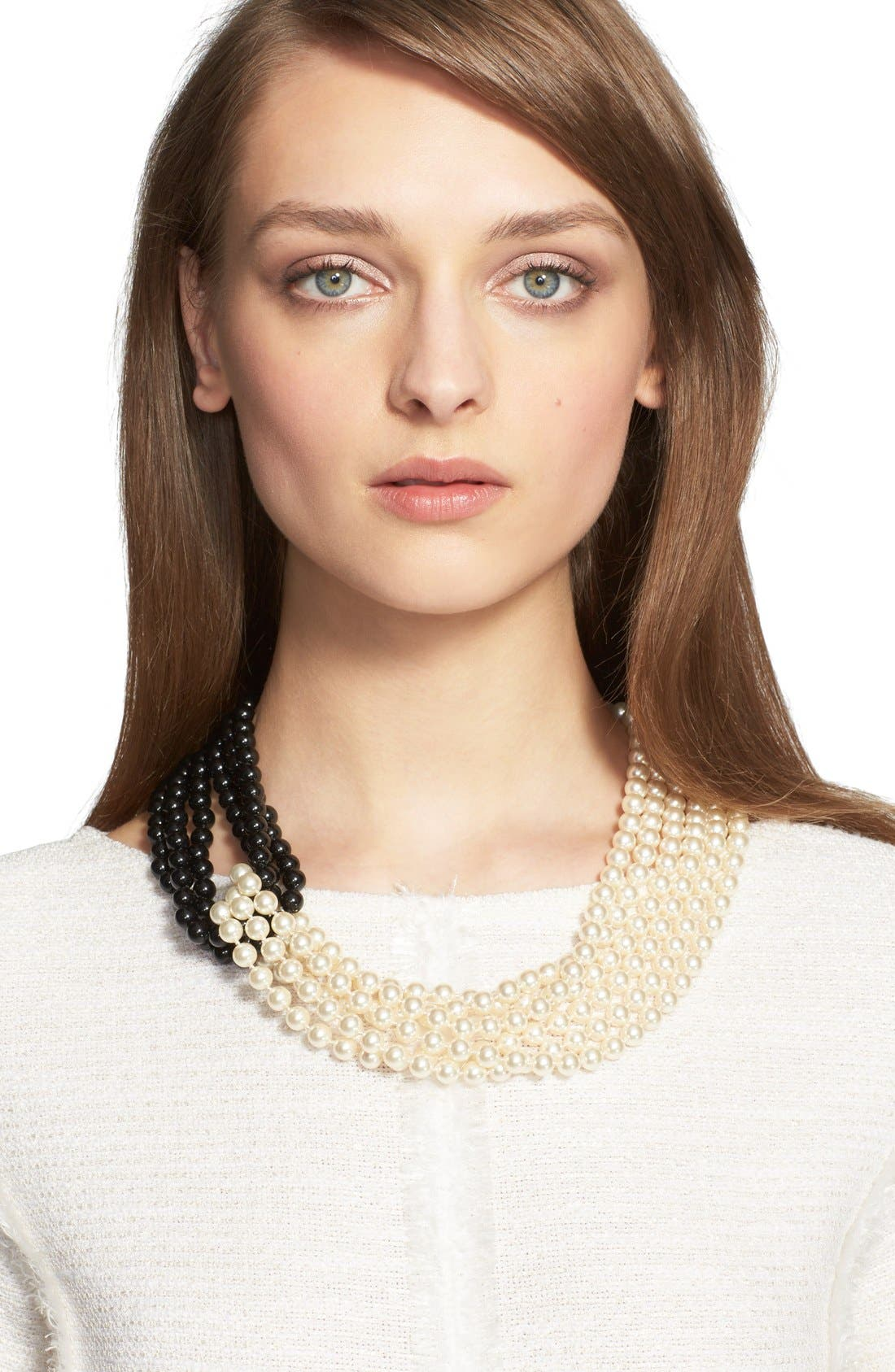 St. John Collection Two-Tone Faux Pearl Multistrand Necklace