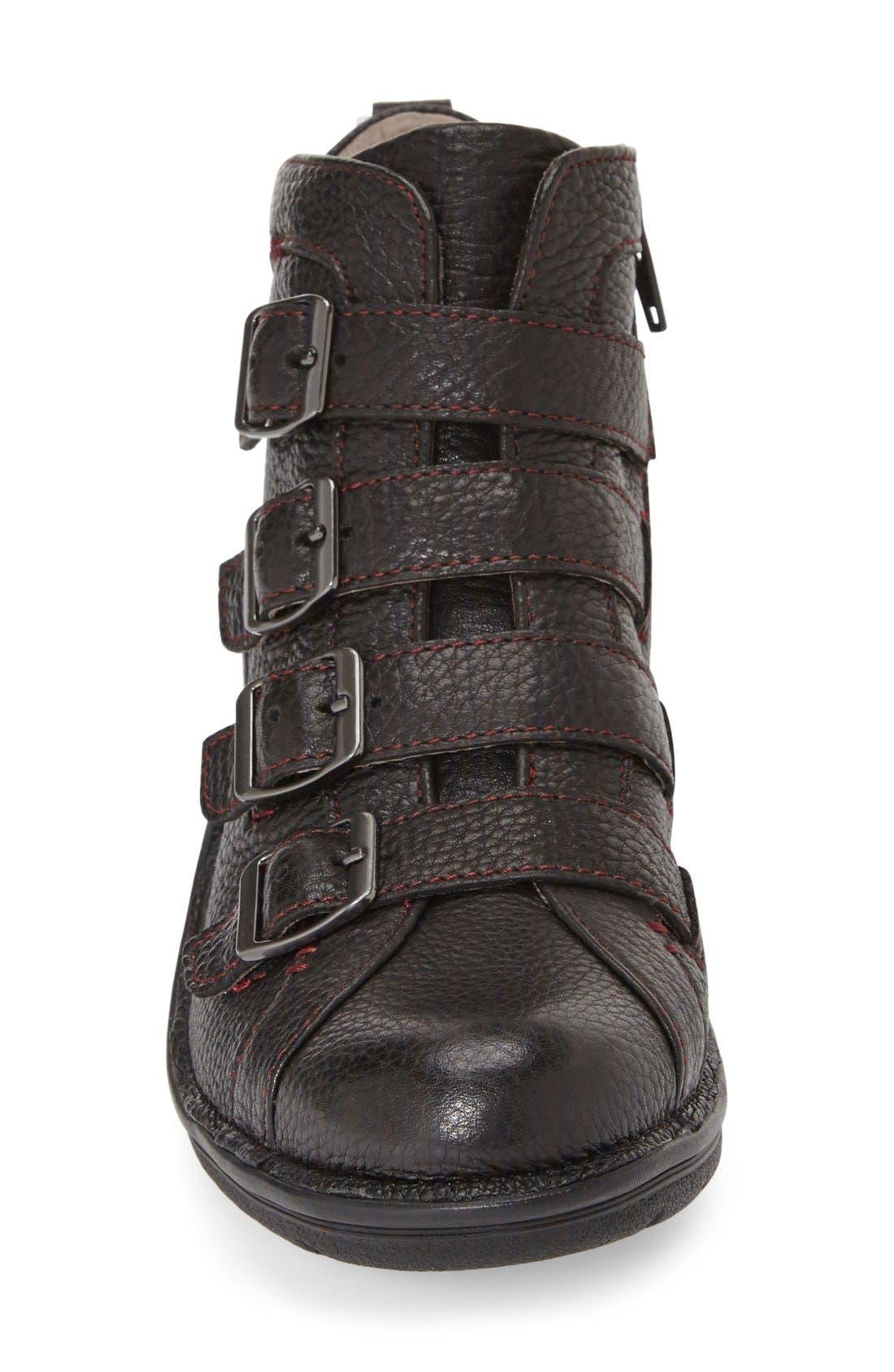 'Orion' Bootie,                             Alternate thumbnail 4, color,                             Black Leather