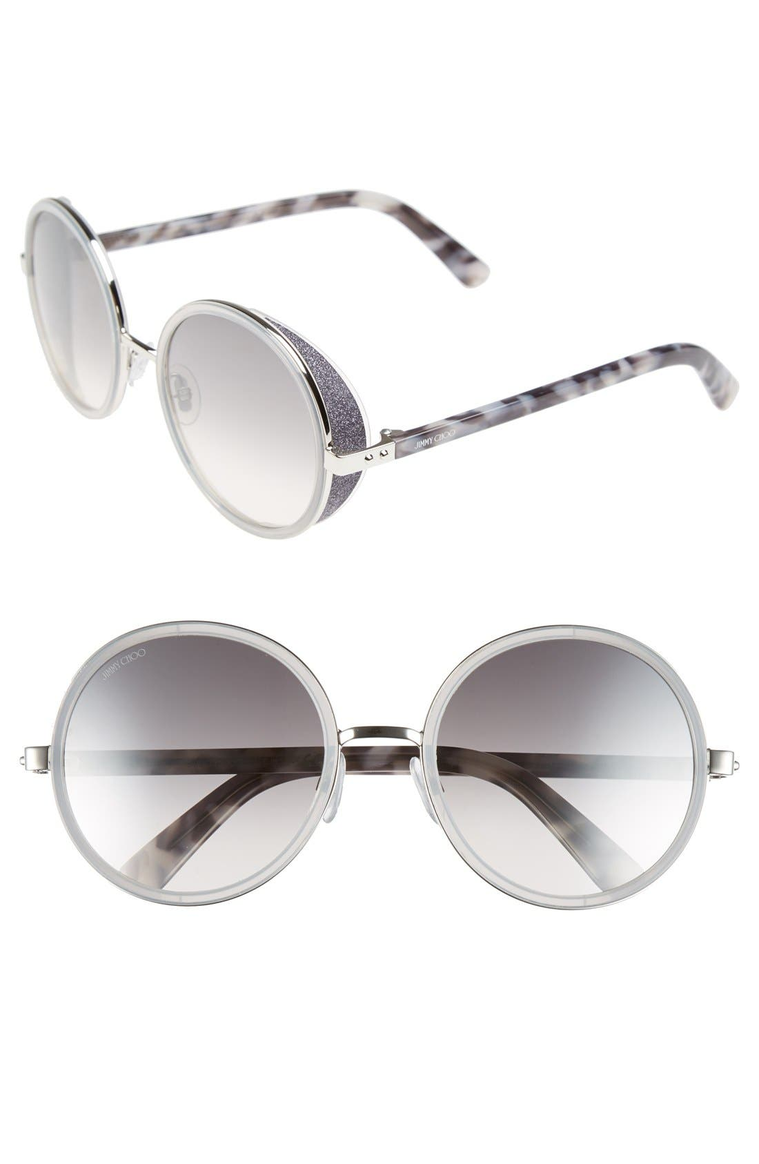 Main Image - Jimmy Choo'Andies' 54mm Round Sunglasses