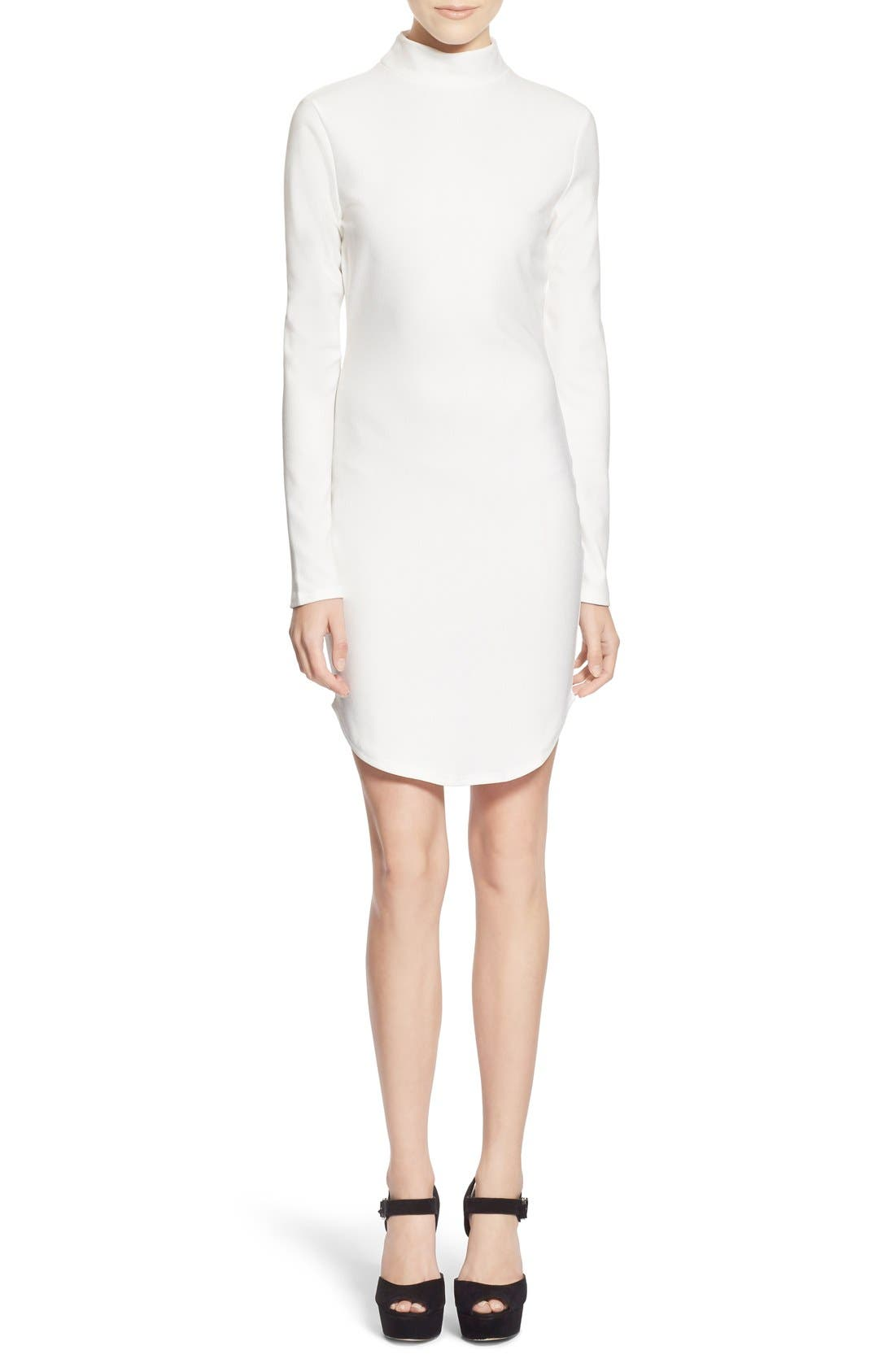 Alternate Image 1 Selected - Missguided Mock Neck Sheath Dress