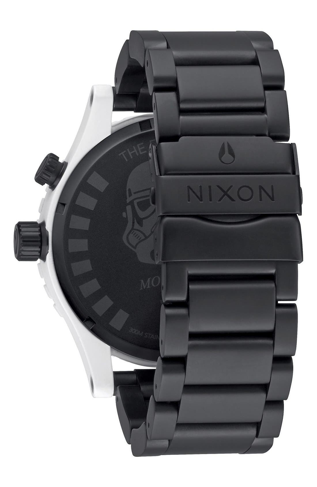 Alternate Image 2  - Nixon 'Star Wars™ - The 51-30 Stormtrooper' Bracelet Watch, 51mm