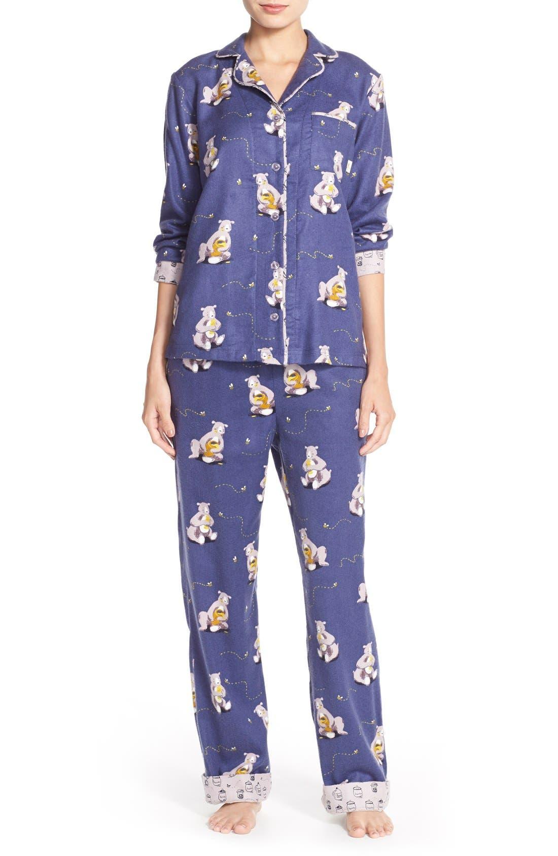 Alternate Image 1 Selected - Munki MunkiFlannel Pajamas