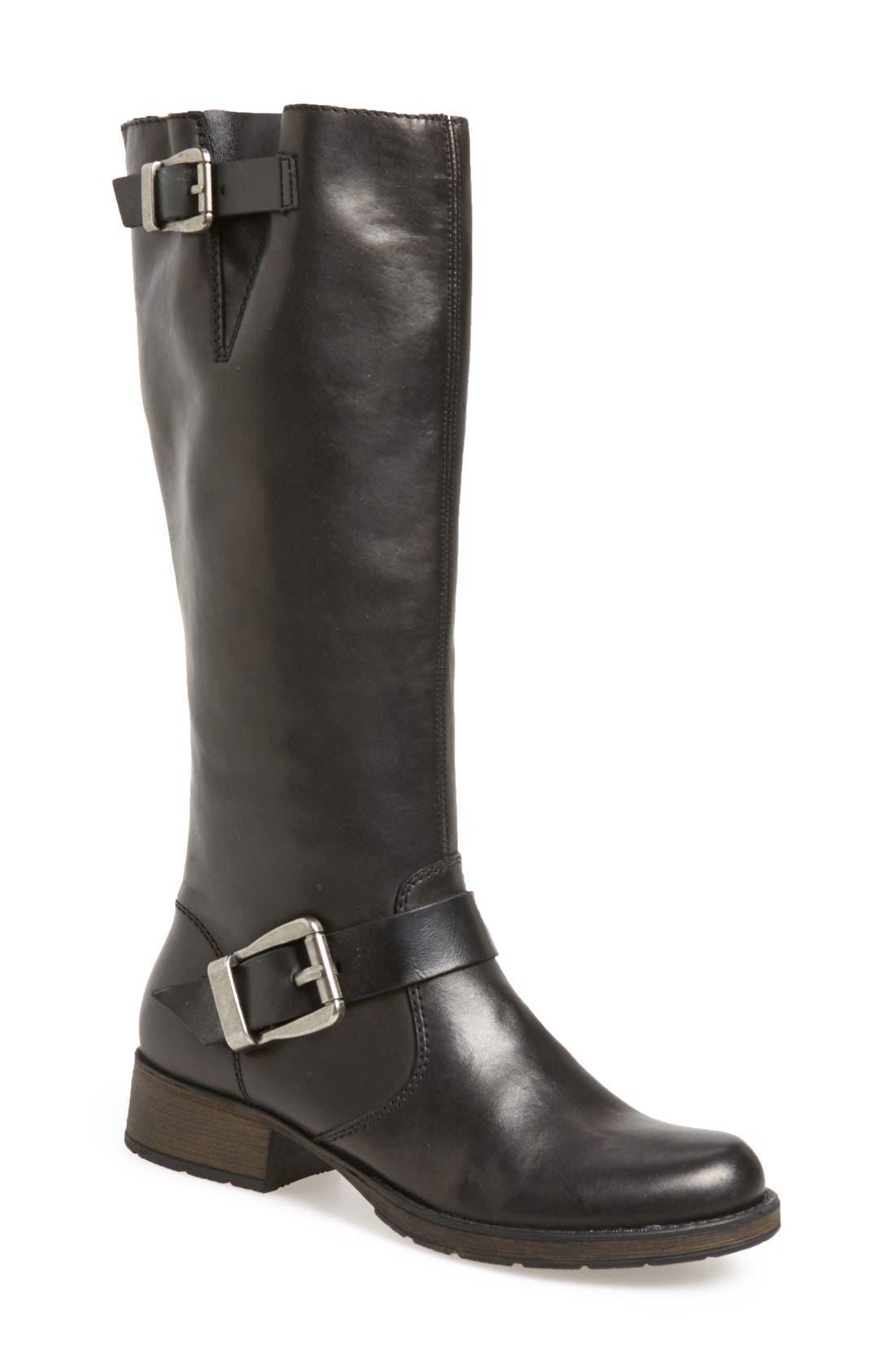 RiekerAntistress 'Faith 80' Tall Boot,                             Main thumbnail 1, color,                             Black Leather