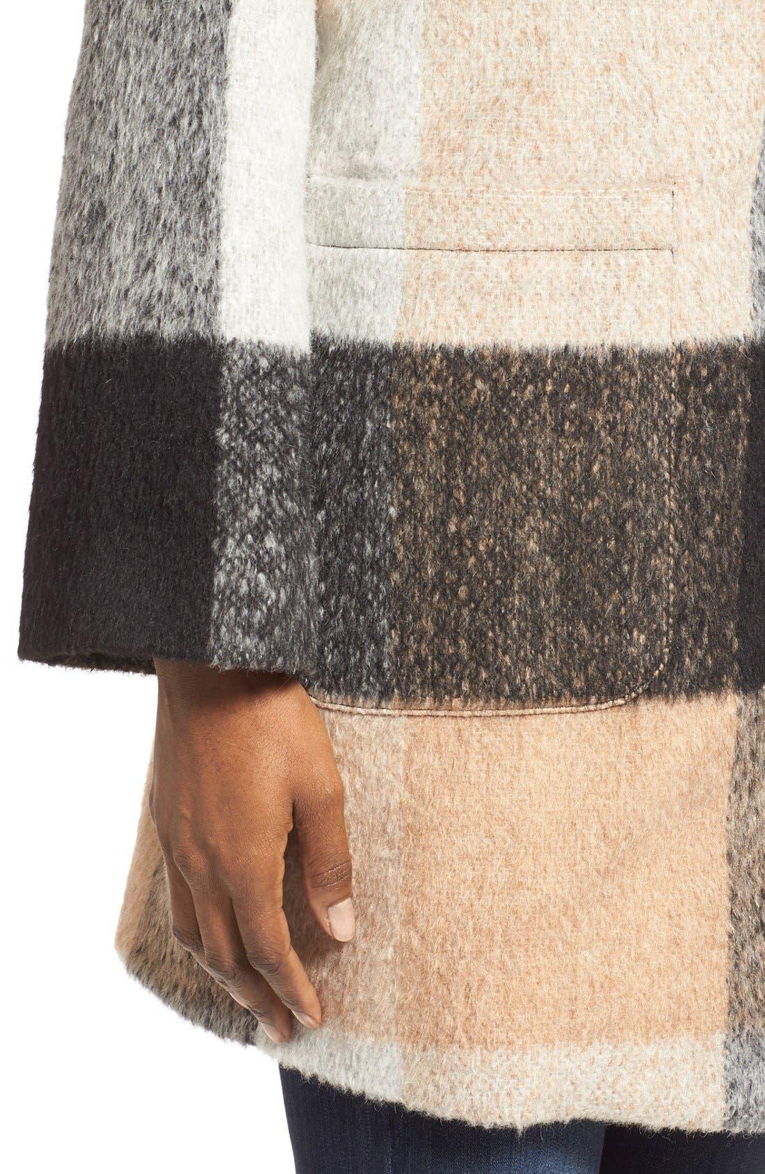 Alternate Image 4  - BadgleyMischka'Maxine' Plaid Oversize Coat
