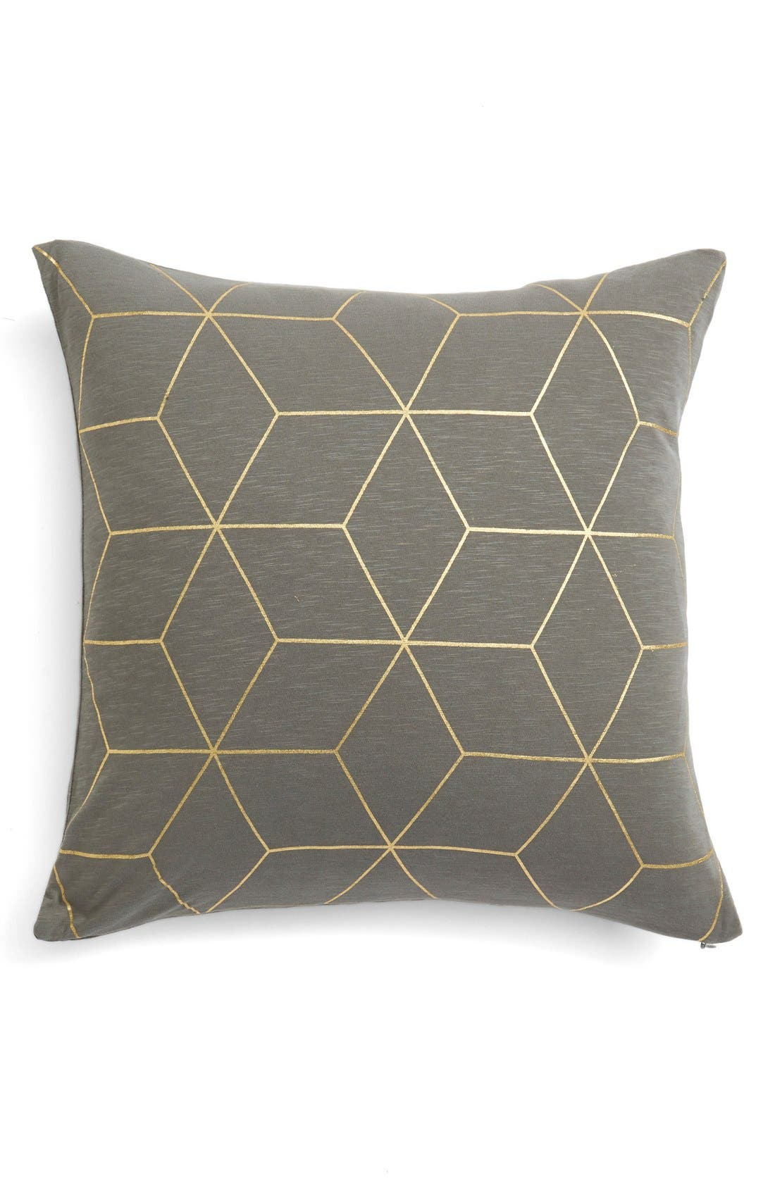 Alternate Image 1 Selected - Nordstrom at Home Foil Printed Jersey Pillow