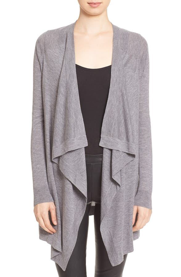Vince Drape Front Lightweight Wool Cardigan (Nordstrom Exclusive ...