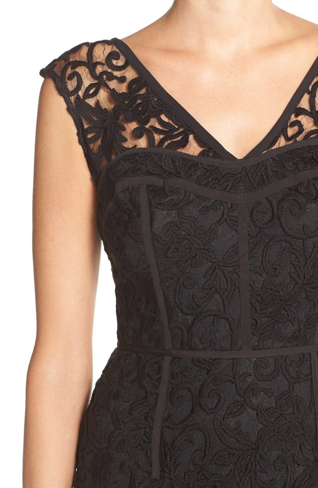 Alternate Image 5  - Adrianna Papell Illusion Lace Sheath Dress
