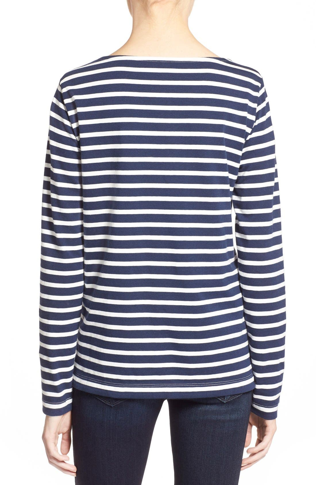 Alternate Image 2  - Vineyard Vines Stripe Long Sleeve Knit Tee