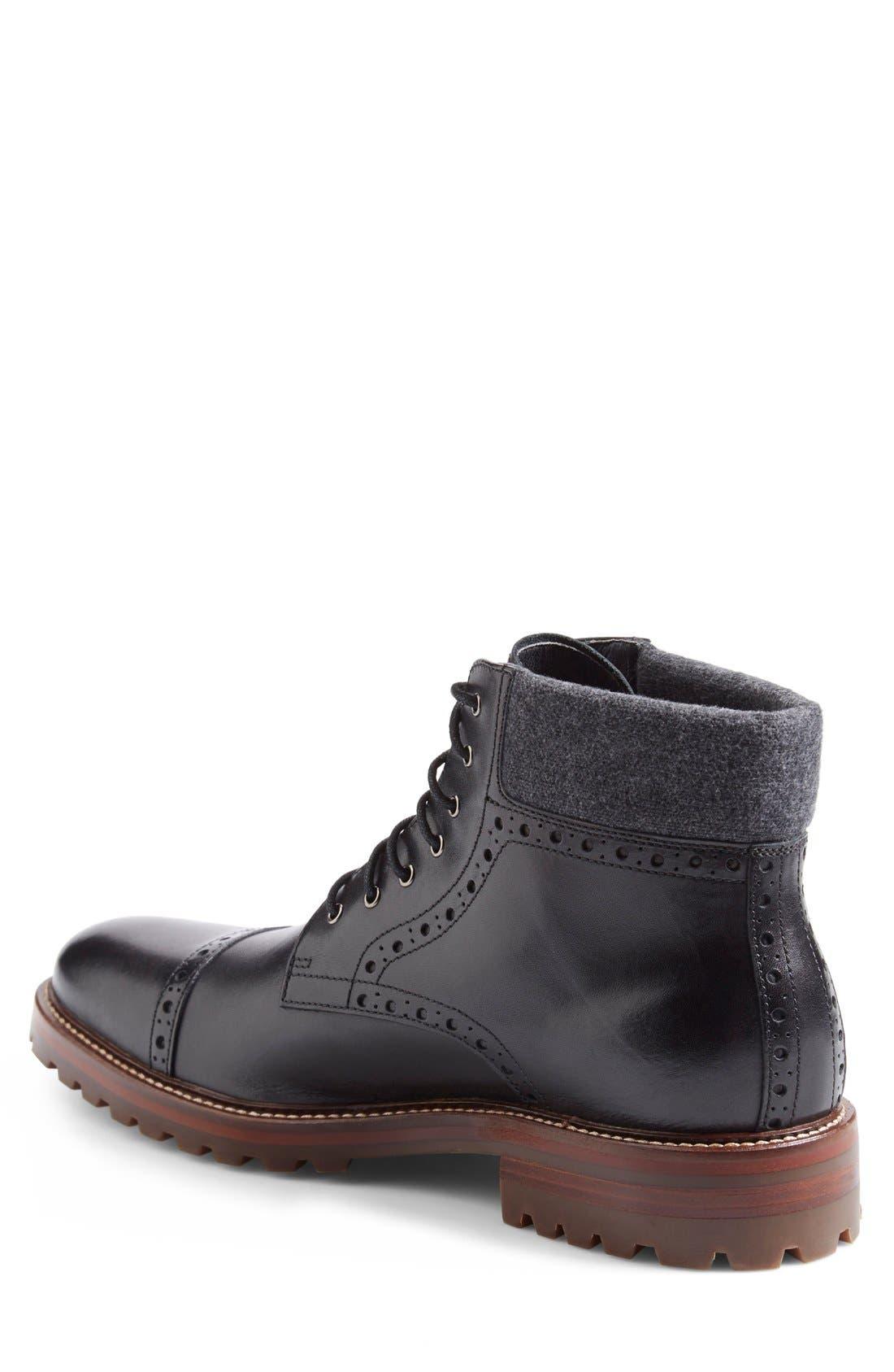 Alternate Image 5  - J&M 1850 'Karnes' Brogue Cap Toe Boot (Men)