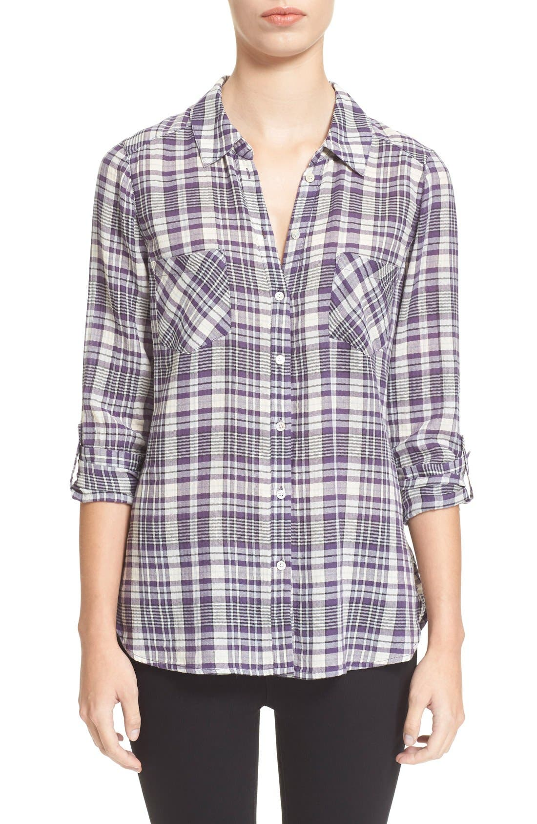 Alternate Image 1 Selected - Joie 'Aidan' Woven Plaid Shirt