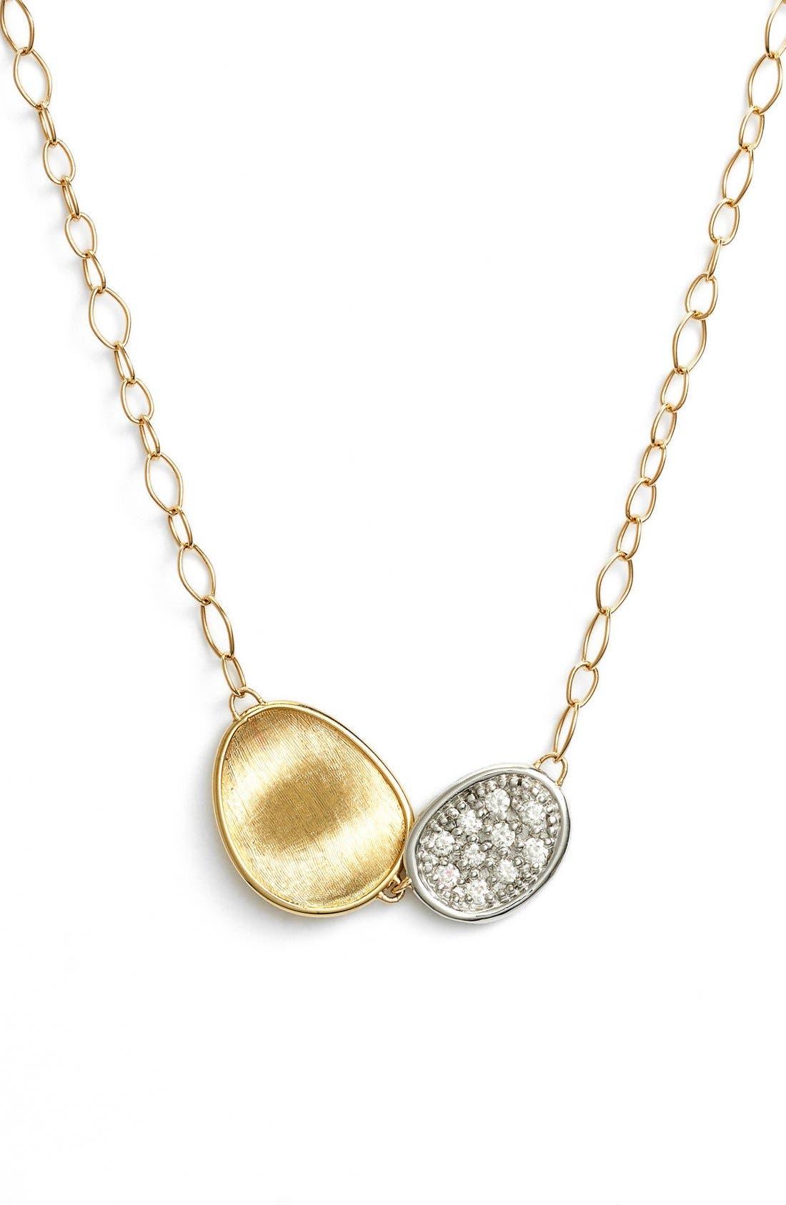 Lunaria Pendant Necklace,                             Main thumbnail 1, color,                             Yellow Gold