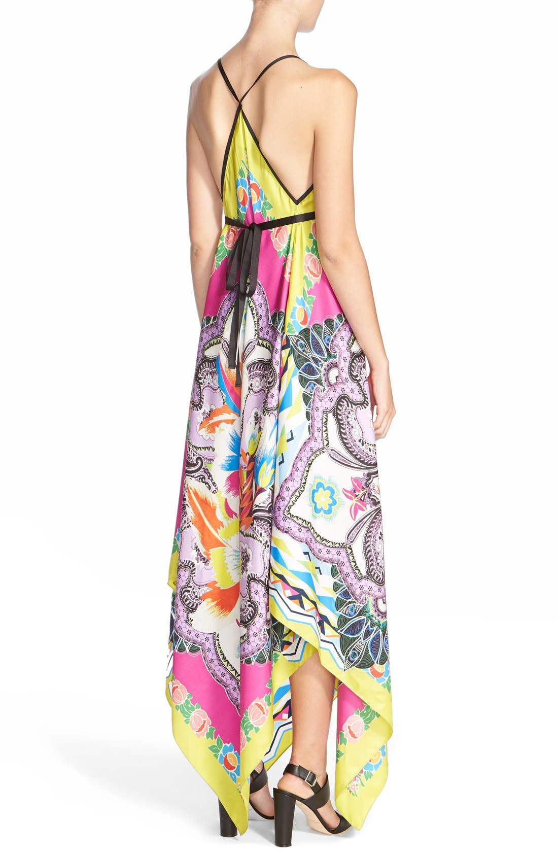 Alternate Image 2  - Etro Floral Print Silk Handkerchief Dress