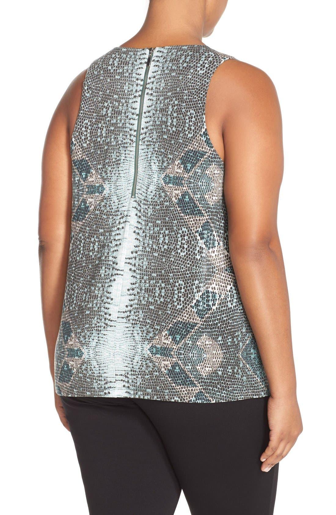 Alternate Image 2  - Tart 'Jewell' Pleat Neck Print Top (Plus Size)
