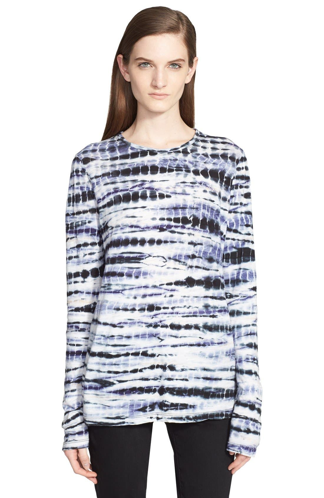 Alternate Image 1 Selected - Proenza Schouler Tie Dye Tissue Jersey Long Sleeve Tee