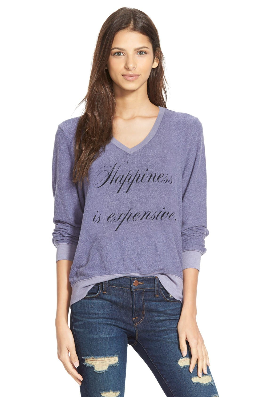 Main Image - Wildfox 'Baggy Beach Jumper - Happiness' Pullover