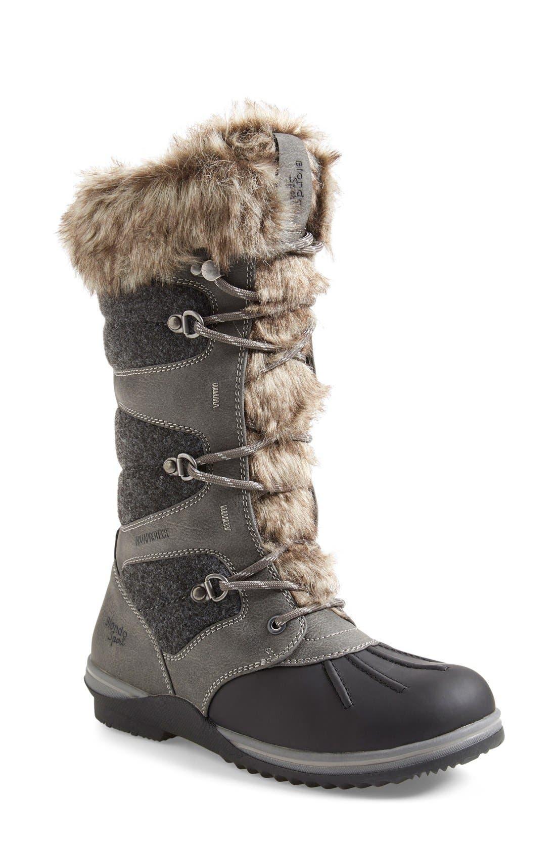 'Sasha' Waterproof SnowBoot,                         Main,                         color, Dark Grey