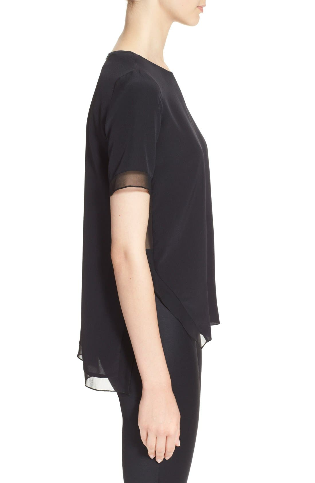 Alternate Image 5  - Prabal Gurung Short Sleeve Keyhole Silk Blouse