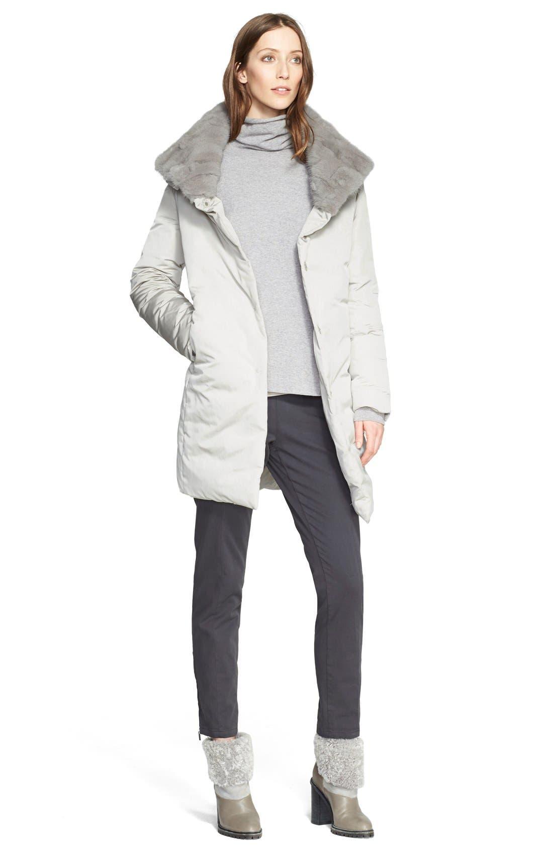 Alternate Image 5  - Fabiana Filippi Suede Contrast Wool Blend Turtleneck Sweater