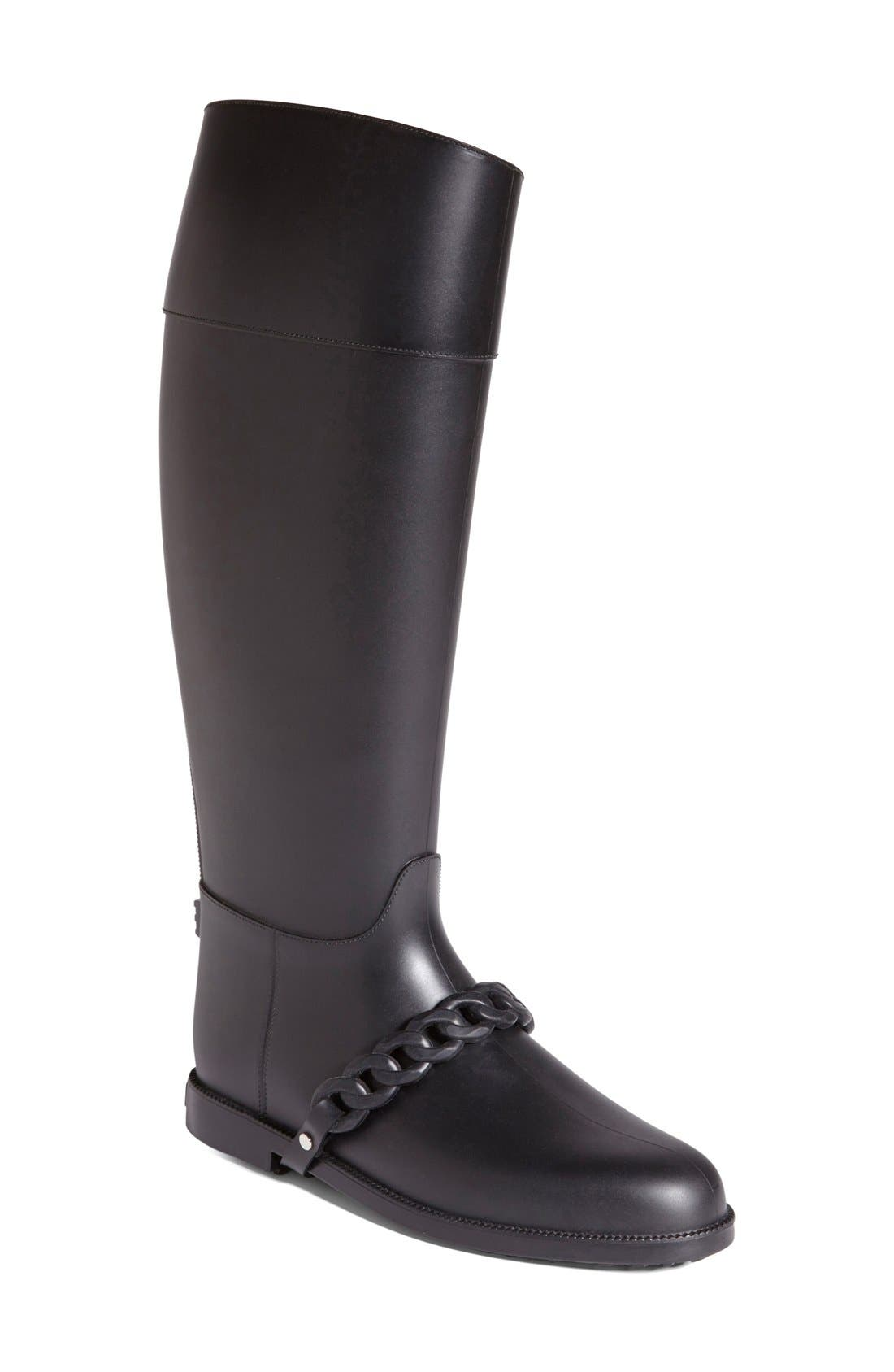 Alternate Image 1 Selected - Givenchy 'Eva Chain' Tall Rain Boot (Women)