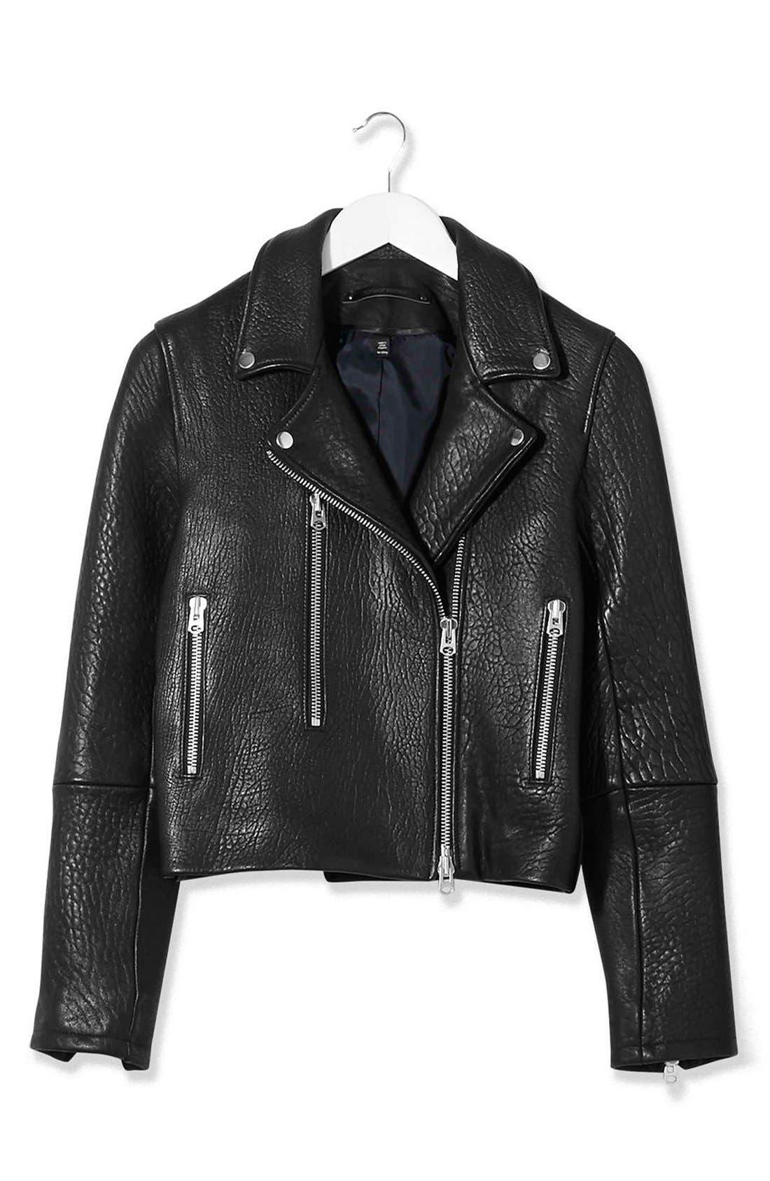 Alternate Image 5  - Topshop Boutique Leather Biker Jacket