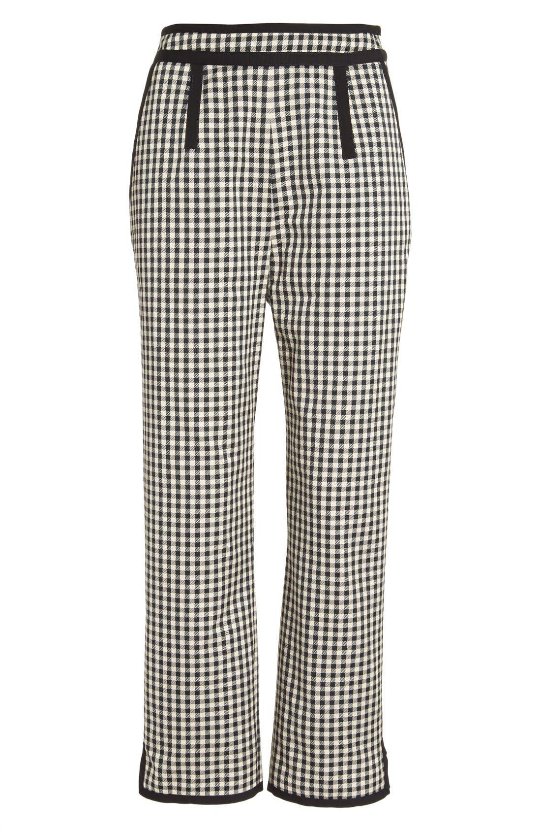 Alternate Image 4  - Isa Arfen Check Print Crop Pants