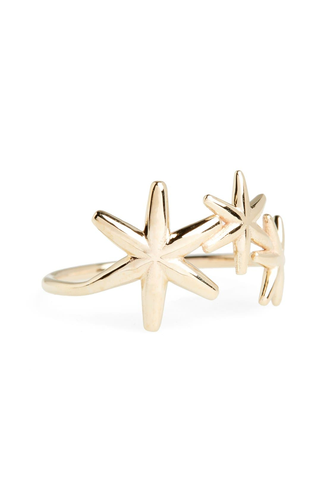 'Nimbus' Star Ring,                         Main,                         color, Yellow Gold