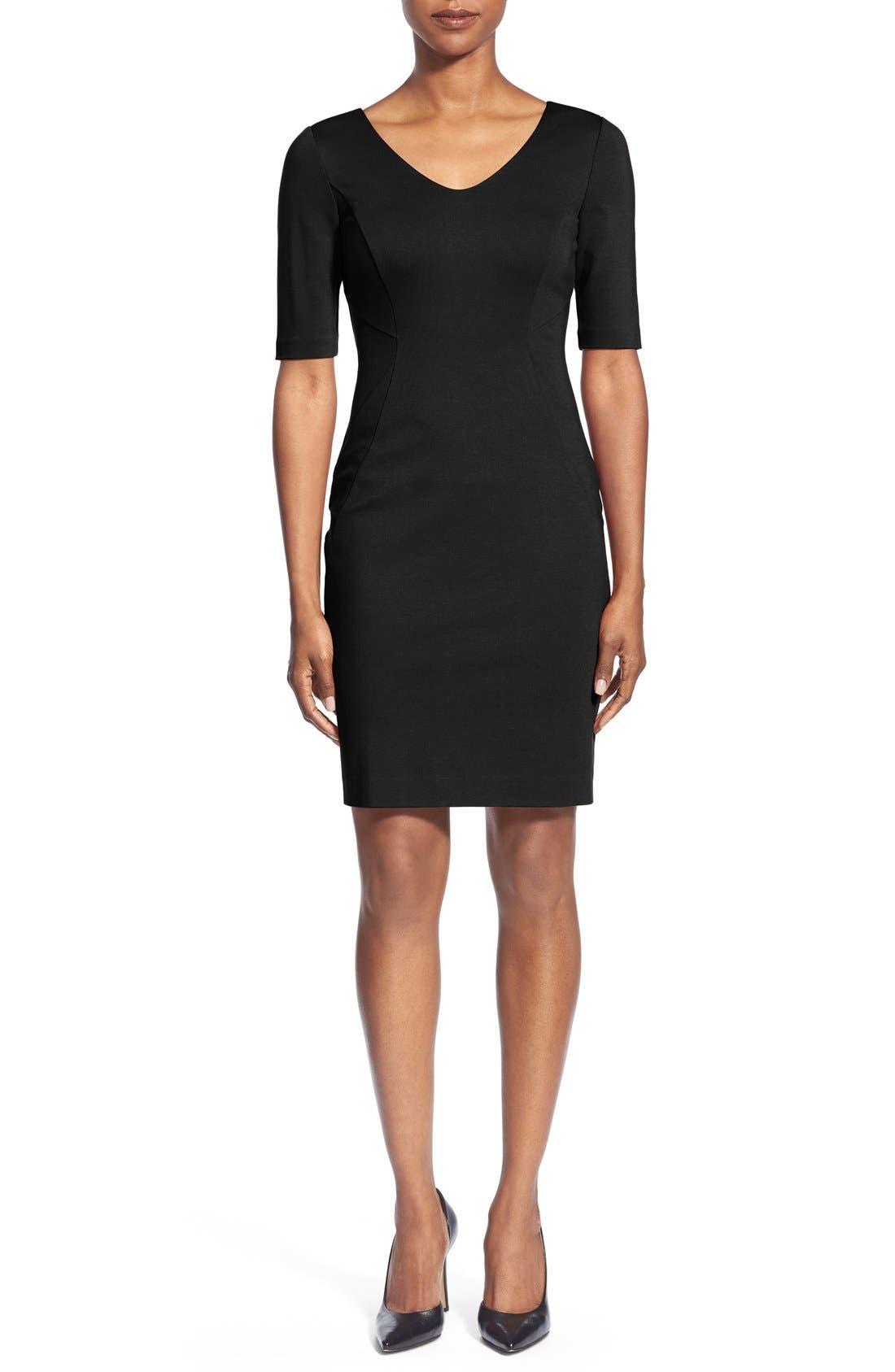 Alternate Image 1 Selected - Halogen® Ponte Dress (Regular & Petite)