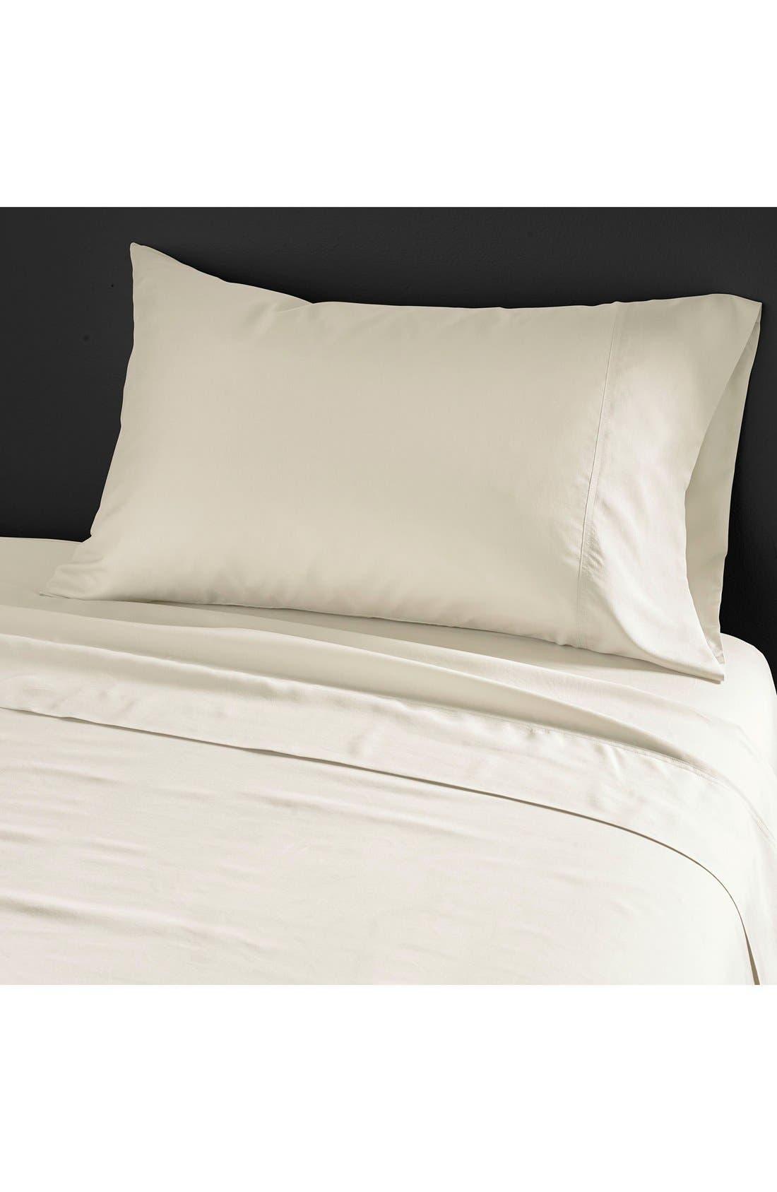Donna Karan Collection 'Silk Essentials' Habutai Silk Pillowcase,                             Main thumbnail 1, color,                             Pearl
