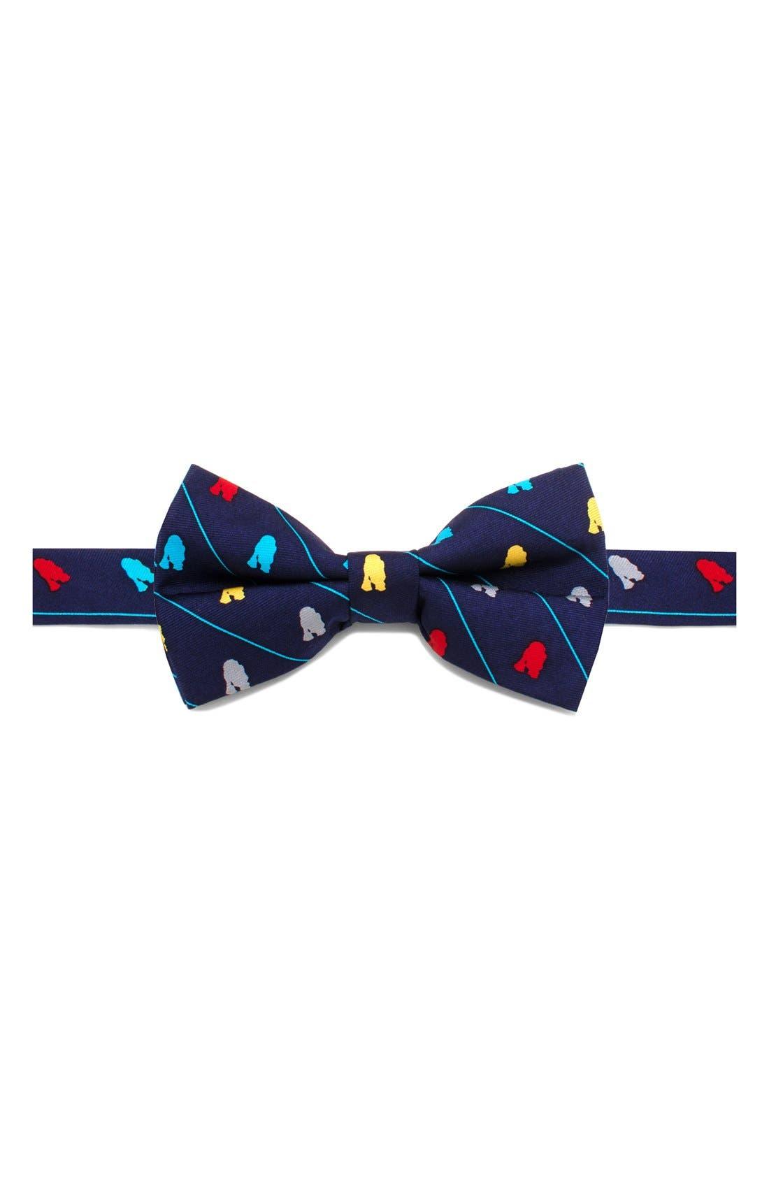 'Star Wars<sup>™</sup>- R2-D2 Stripe' Silk Bow Tie,                             Main thumbnail 1, color,                             Blue