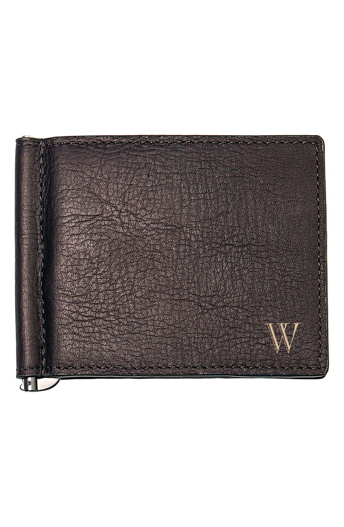 Monogram Leather Wallet & Money Clip,                         Main,                         color, Brown - W