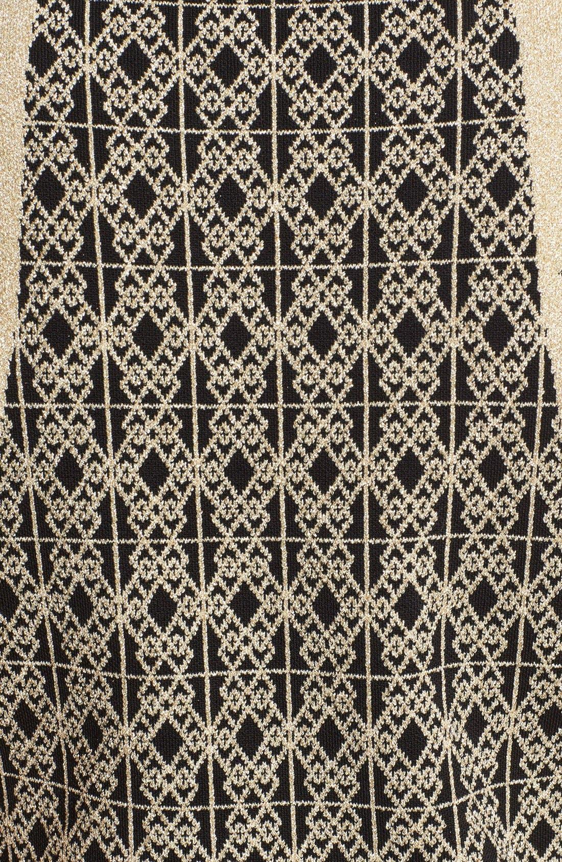 Alternate Image 5  - Ted Baker London 'Jenkin' Metallic Jacquard Fit & Flare Dress