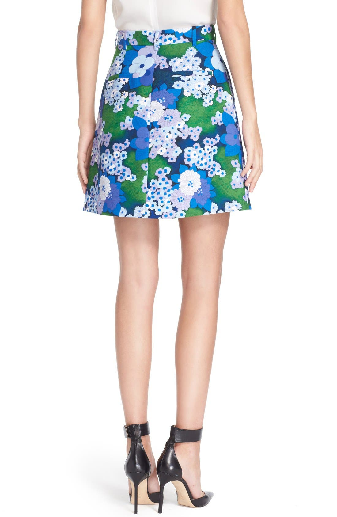 Alternate Image 2  - Carven Floral Print A-Line Skirt