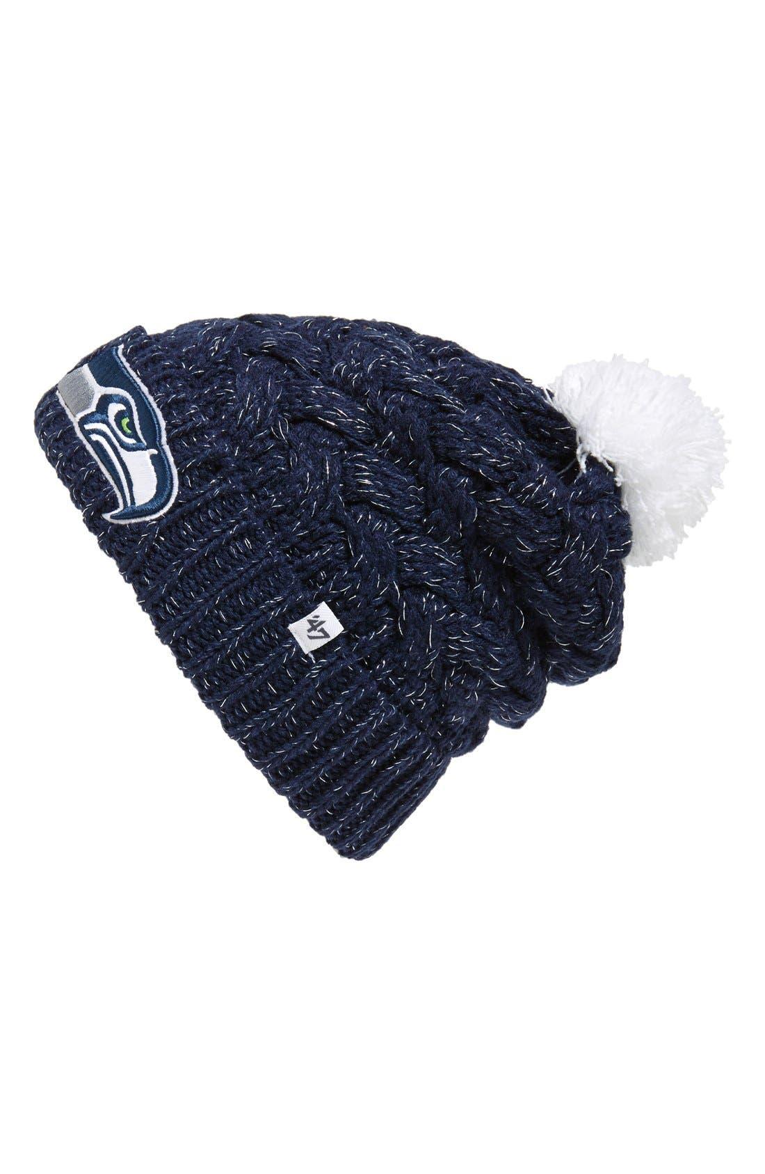 47 47 Brand Seattle Seahawks Pom Beanie