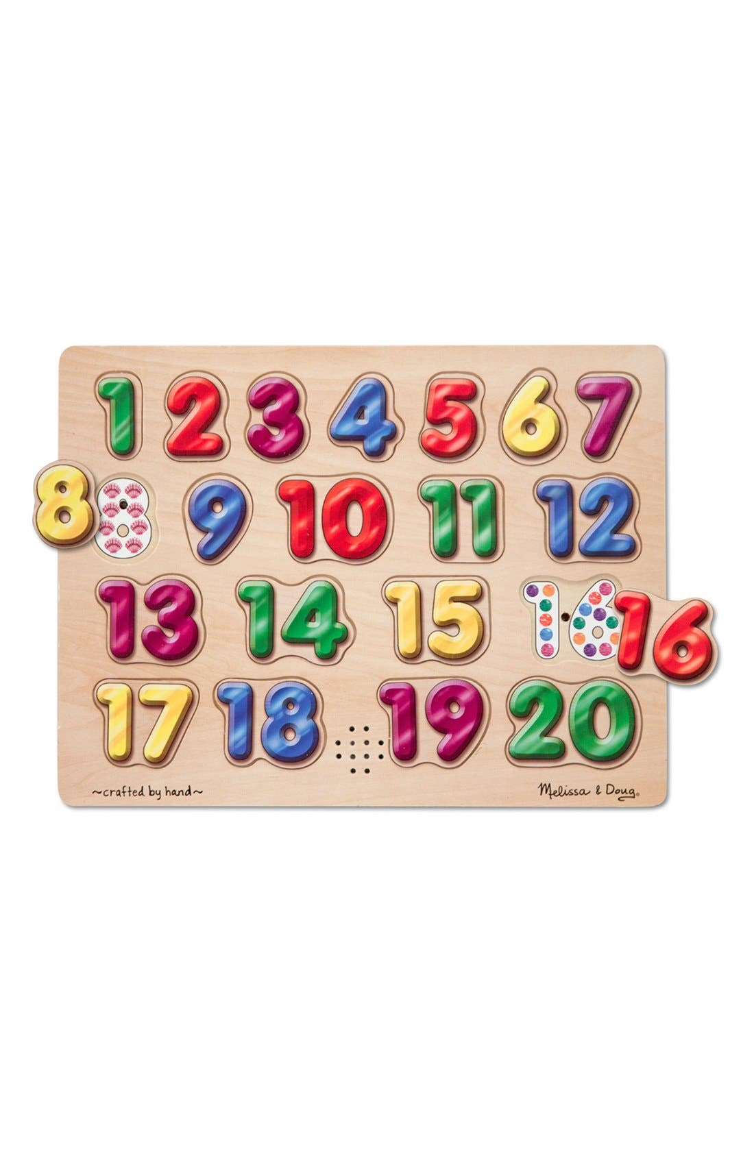 Spanish Number Sound Puzzle,                             Main thumbnail 1, color,                             Brown