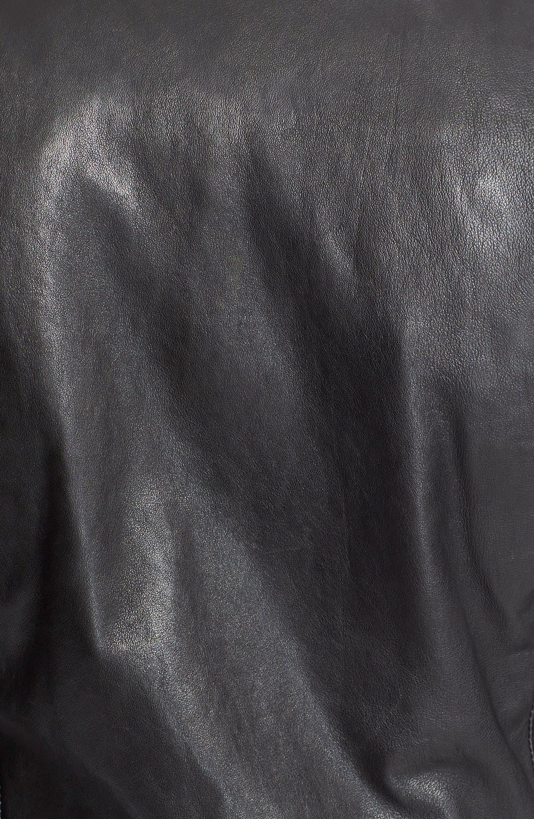 Alternate Image 6  - BLK DNM 'Leather Jacket 5' Leather Moto Jacket