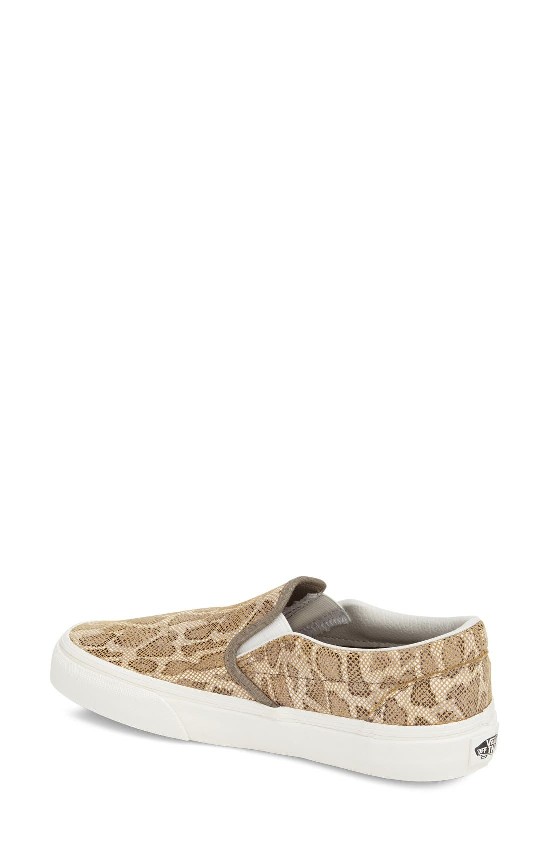 Alternate Image 2  - Vans 'Classic' Leopard Print Slip-On (Women)