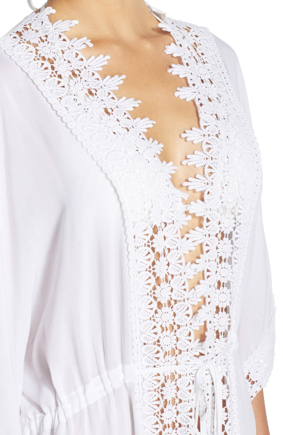 Alternate Image 4  - La Blanca 'Costa Brava' Crochet Cover-Up Kimono