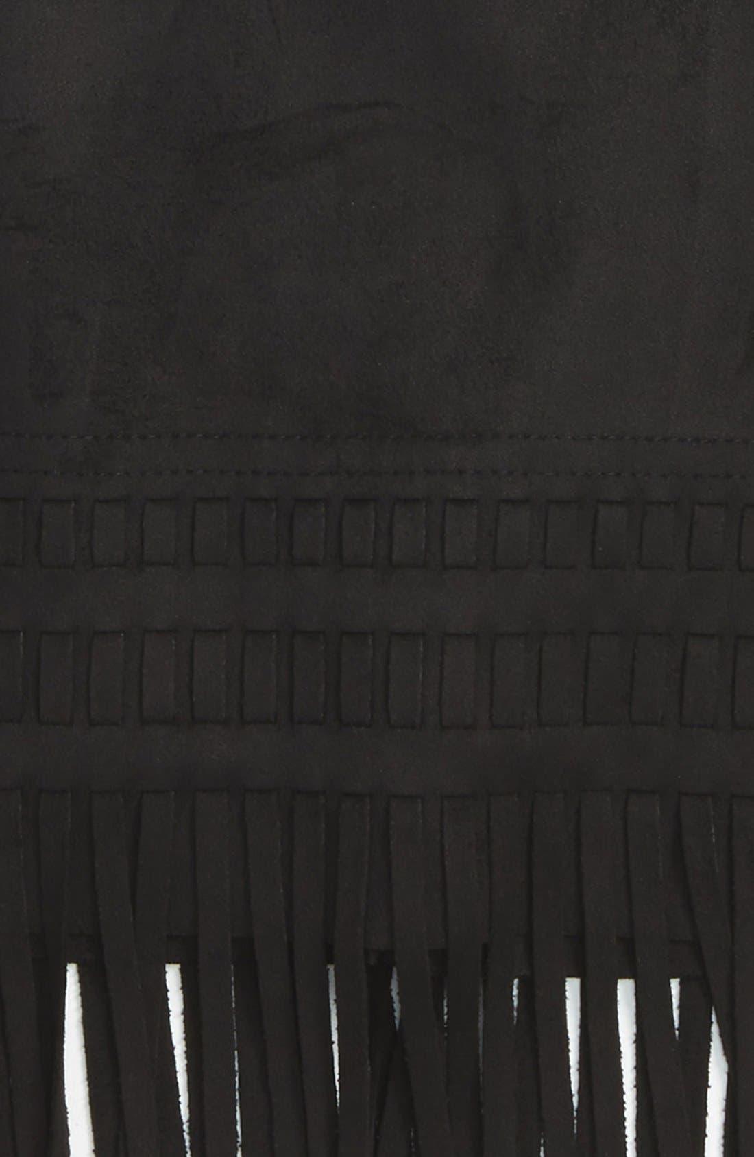 Alternate Image 2  - BLANKNYC 'Seal the Deal' Faux Suede Fringe Skirt (Big Girls)