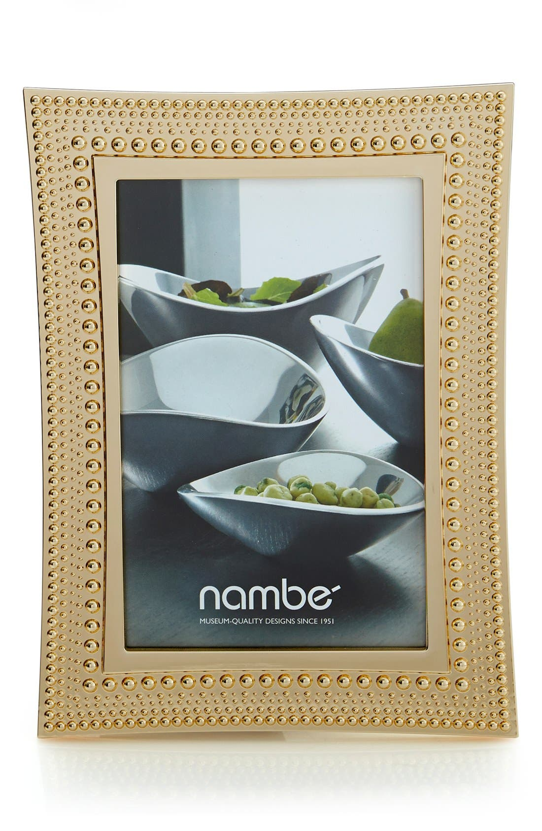 Beaded Picture Frame,                         Main,                         color, Gold