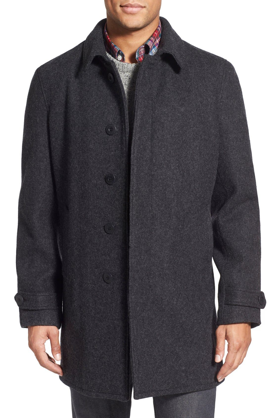 Schott NYC Wool Raglan Car Coat | Nordstrom