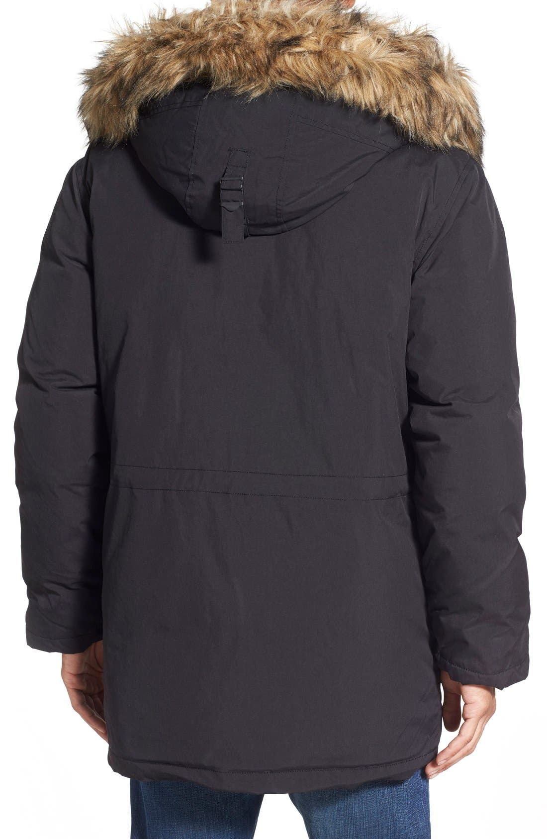 Alternate Image 2  - Schott NYC 'Iceberg' Water Resistant Down Parka with Faux Fur Trim